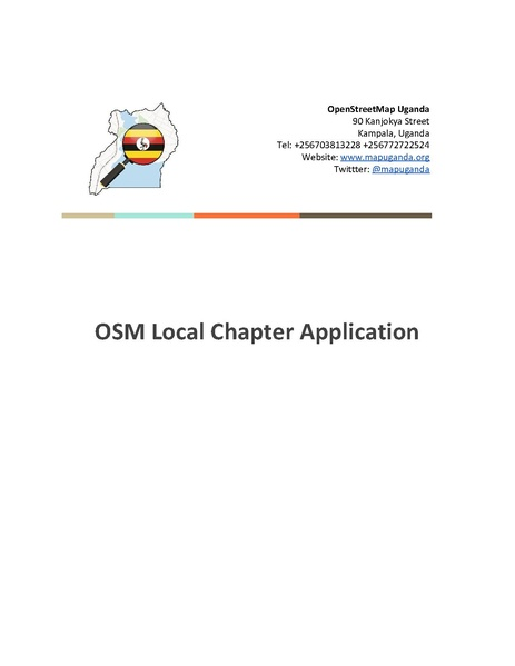 File:OSM Uganda-Local Chapter Application.pdf