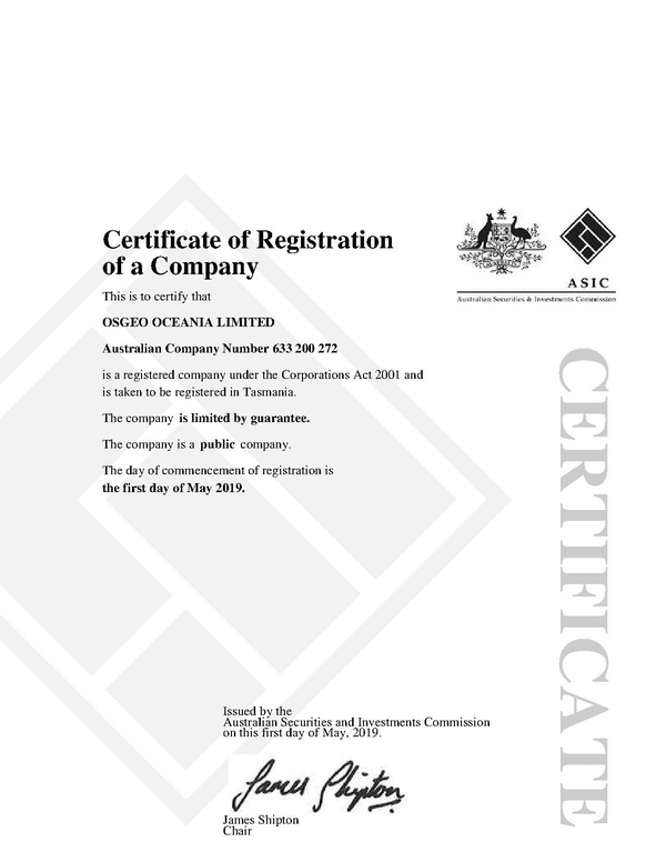OSGeo Oceania Certificate of Registration.pdf